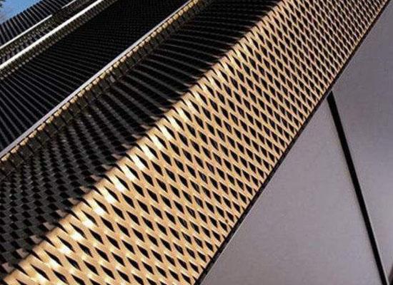 铝板拉伸装饰网在幕墙装饰中的应用